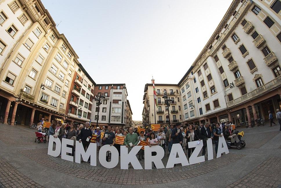 Gure Esku Dago kontzentrazioa - Demokrazia - elkartasuna Kataluniarekin - Zarautz - 2017-09-20 - 2
