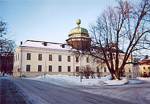 Uppsala University Hospital - Gustavianum in Uppsala, showing the cupola housing Rudbeck's anatomical theatre from 1663.