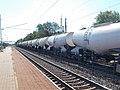 Gyárváros railway station, tankers and factory chimneys, 2018 Győr.jpg