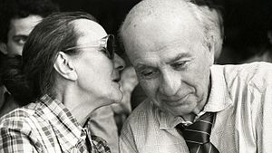 Gyula Illyés - Gyula Illyés with his wife in 1979