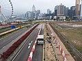 HK 中環 Central Waterfront promenade 民耀街 Man Yiu Street footbridge view March 2020 SSG 08.jpg