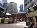 HK Sheung Wan Shun Tak Centre Bus 182 Terminus Kai Tak Commercial Building Sep-2015 DSC footbridge Connaught Road West.JPG