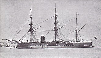 HMS Invincible (1869) - Image: HMS Invincible (1869)