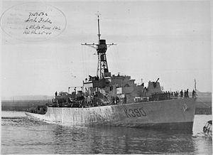 HMS Loch Fada (K390) - Loch Fada in April 1944, around the time she was commissioned