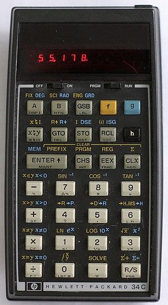 HP-34C - HP-34C Calculator