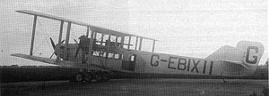 Handley Page Type W - Three engined W.8f.