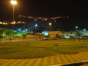 Jebel Hafeet - Jebel Ḥafeet by night.