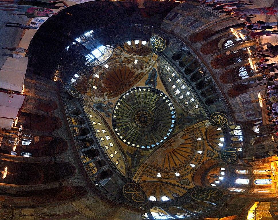 Hagia Sophia Interior Panorama