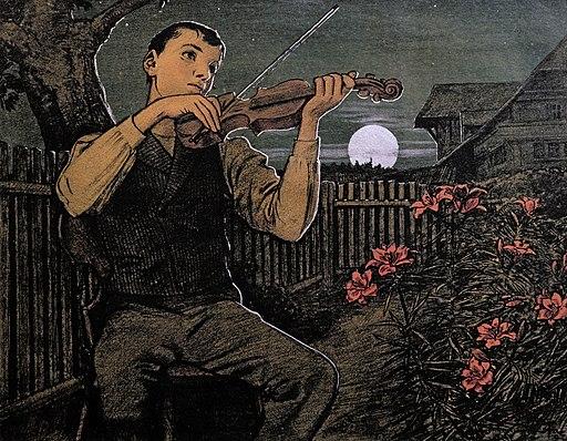 Hans Thoma - Mondscheingeiger