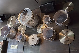 Sean Kinney - Sean Kinney drum set displayed at the Hard Rock Cafe in Seattle.