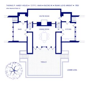 Thomas P. Hardy House - Image: Hardy House Lower Level