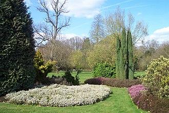 Harris Garden - Heather garden in April.