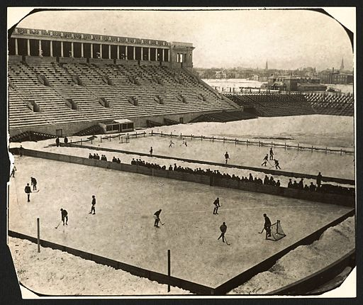 Harvard Stadium - 1910 Hockey (Hi-Res)