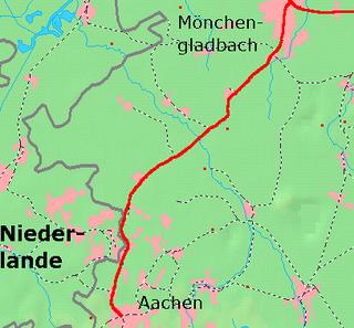 Aachen–Mönchengladbach railway railway line