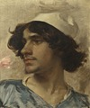 Head of Young man. Study (Charles Bargue) - Nationalmuseum - 18601.tif