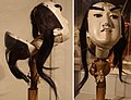 Head with control of male Bunraku puppet from Japan, 1870.jpg