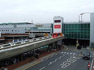 disused airport terminal at London Heathrow Airport