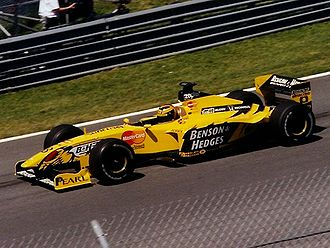 Heinz-Harald Frentzen - Frentzen driving for Jordan at the 1999 Canadian Grand Prix, during his most successful season in F1.