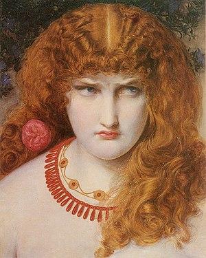 Hélène (opera) - Helen of Troy (1867) by Frederick Sandys.