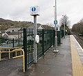 Help Point on Troed-y-Rhiw railway station (geograph 6082648).jpg
