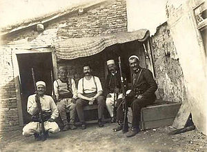 Peasant Revolt in Albania - Hendrik Reimers, Dutch captain of the International Gendarmerie, captured by rebels (June 1914)