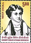 Henry Louis Vivian Derozio 2009 stamp of India.jpg
