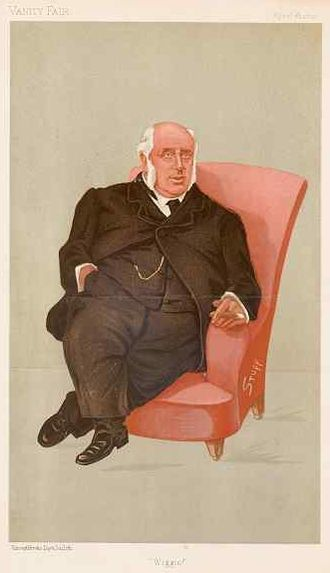Cheadle, Staffordshire - Caricature of Henry Wiggin, published in Vanity Fair, 16 April 1892
