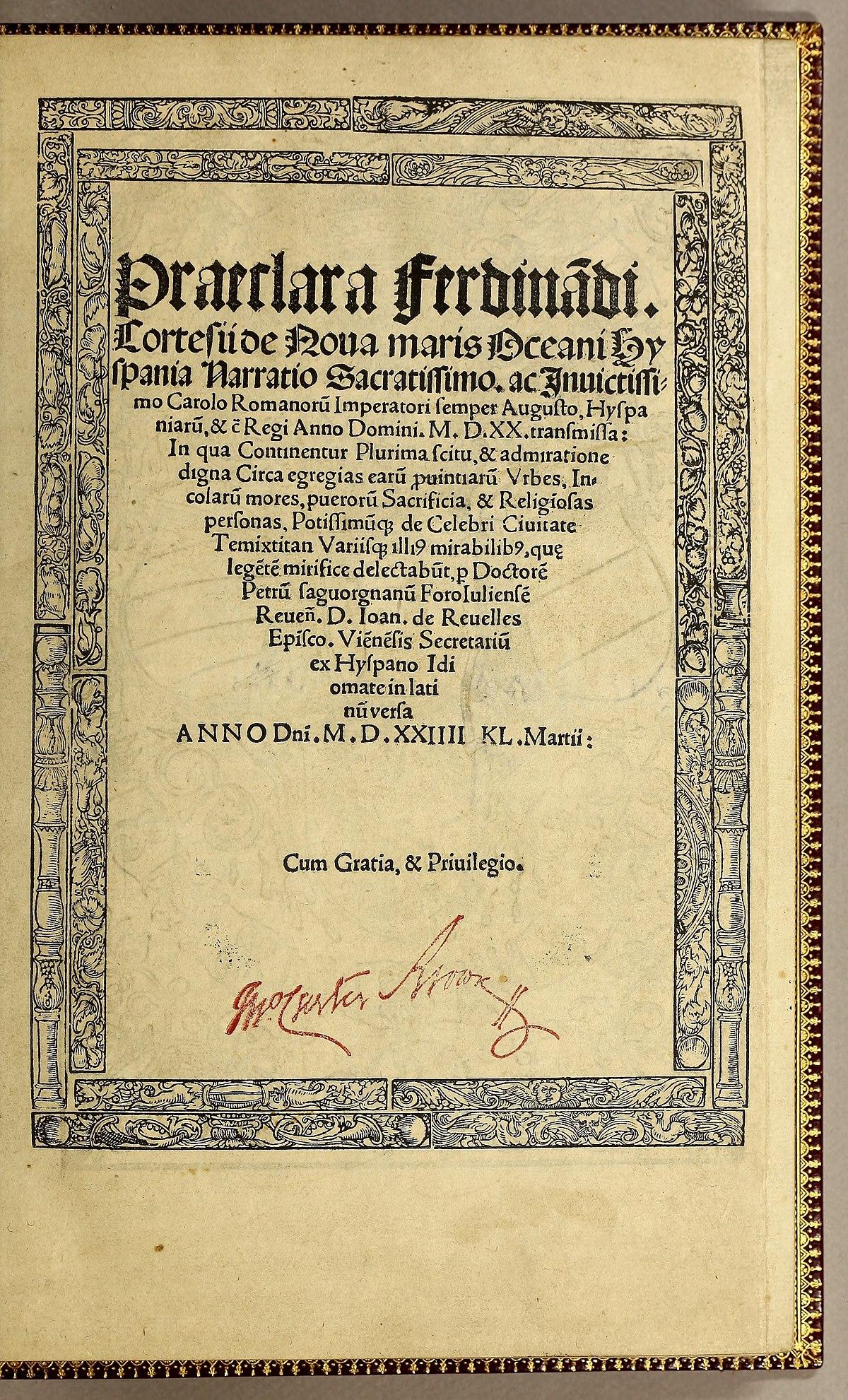 Cartas de relación - Wikipedia, la enciclopedia libre