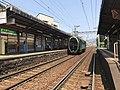 Hiei leaving Ichijoji station 20200502.jpg