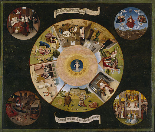Hieronymus Bosch- The Seven Deadly Sins and the Four Last Things