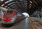High-speed train at platform in Milano Stazione Centrale.jpg