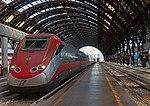 High-speed train at platform in Milano Stazione Centrale.jpg