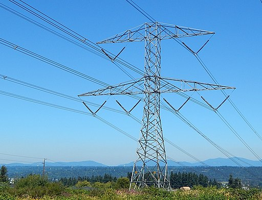High voltage transmission tower and lines. Auburn WA