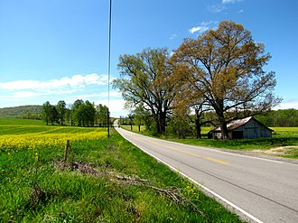 Coffee County, Tennessee - State Route 127 near Hillsboro