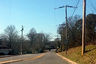Arkansas Highway 300 - Eastern terminus of Highway 300 at Highway 5