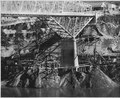 Highway bridge pier No. 2 showing caisson construction for pier enlargement - NARA - 294265.tif
