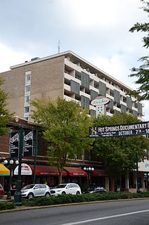 Hill Wheatley Downtowner Motor Inn historic hotel at 135 Central Avenue in Hot Springs, Arkansas