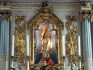 retable architecturé du maître-autel à Hindisheim