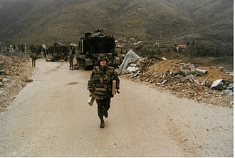 Siege of Mostar - French Implementation Force (IFOR) Artillery Detachment, stationed in Mostar in 1995