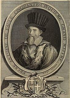 Antoine de Paule Grand Master of the Knights Hospitaller