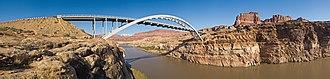 Utah State Route 95 - Image: Hite Crossing Bridge HWY95 view 2 MC