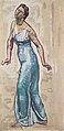 Hodler - Schreitende Frauenfigur in blauem Gwand - 1915.jpeg