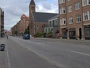 Holmbladsgade - Holmbladsgade at Nathanael's Church