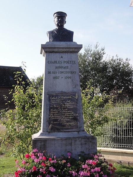Holnon (Aisne) memorial Charles Poëtte