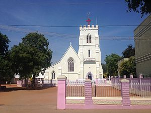 Robert Caldwell - Holy Trinity Church built by missionary Robert Caldwell, situated in Idayankudi, Caldwell was a Bishop of Tirunelveli.