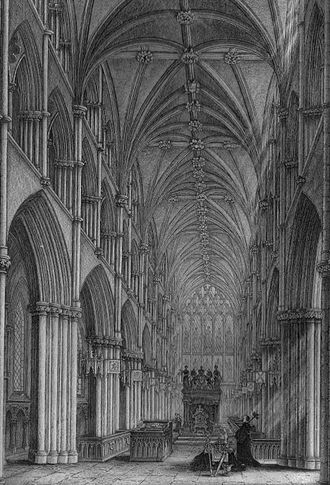 Holyrood Abbey - The Chapel Royal at the time of James VII
