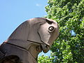 Horses head on the King George V Memorial in Canberra December 2013.jpg