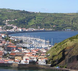 Horta, Azores - Horta and its marina from the south