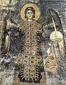 Hosios Loukas (north west chapel, arch) - archangel.jpg