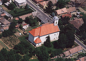 Baranya County - Hosszúhetény - Temple from above
